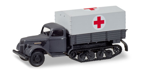 746366 - Herpa Model Red Cross Ford 987 Half Track high