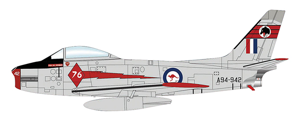 HA4316 - Hobby Master CAC Sabre Mk 31 76th Squadron Red