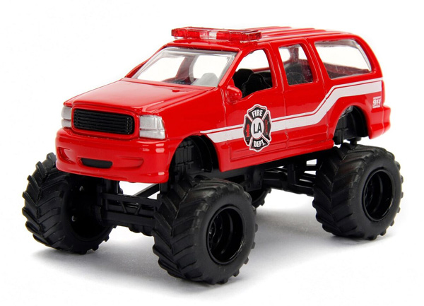 14020-W18-C - Jada Toys Fire Service 2003 Ford Excursion Just Trucks