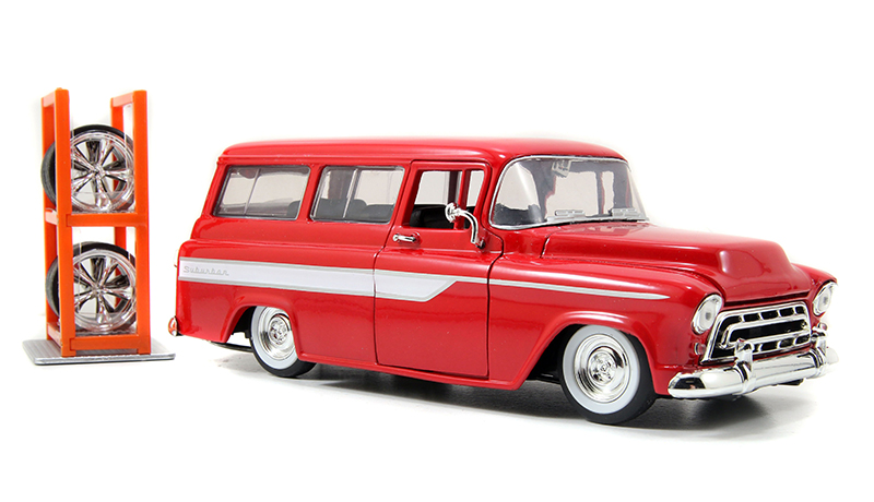 96986 - Jada Toys 1957 Chevrolet Suburban Just Trucks