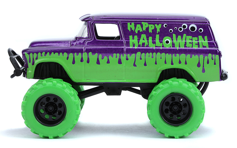 JADA JUST TRUCKS 2019 Halloween Series /'57 CHEVY SUBURBAN w// Green Tires