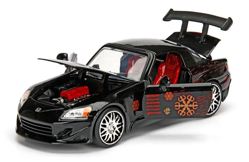 Jada 99543 1//32 Johnnys HONDA S2000 Noir Fast /& Furious