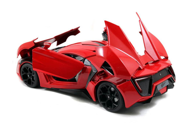 jada toys lykan hypersport furious 7 2015 collectors. Black Bedroom Furniture Sets. Home Design Ideas