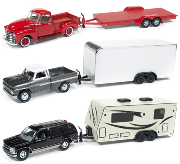 JLBT007-A-SET - Johnny Lightning Truck Trailer 2018 Release