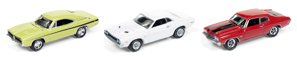 JLMC005-A-CASE - Johnny Lightning Muscle Cars Release 5A Silver
