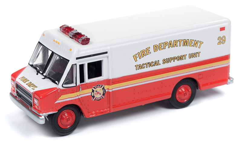 JLSP064 - Johnny Lightning 1990s GMC Step Van Delivery Truck