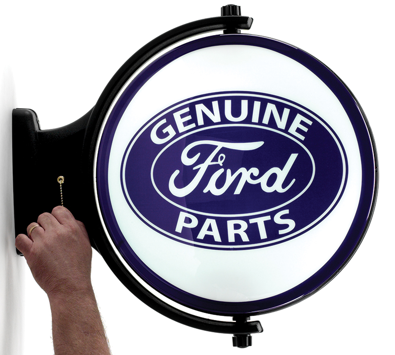 91446 - Liberty Ford Genuine Parts 19 Revolving Lighted Sign