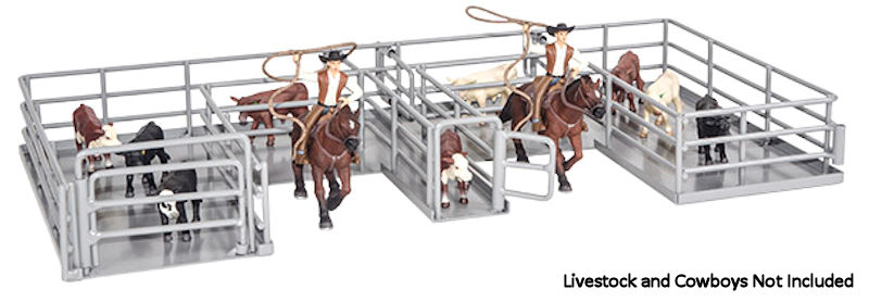 500232 - Little Buster Roping Box Playset featuring full swinging gates