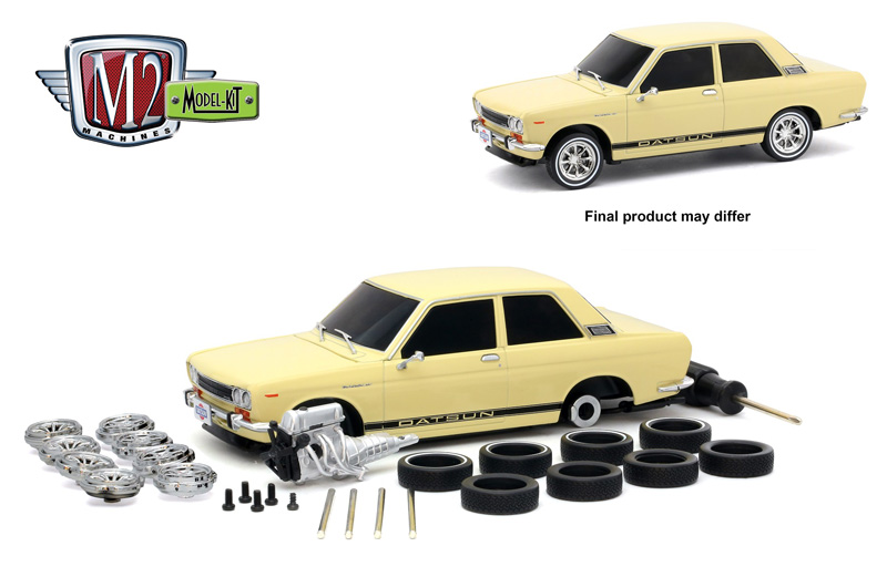 M2 Machines 1:24 Kit Modelo 1970 Datsun 510 Die-Cast 47000-07-1 Branco