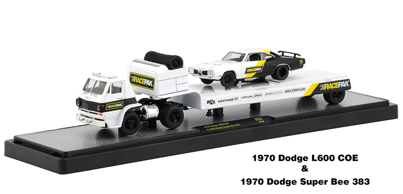 M2 Machines Auto Hauler Coca-Cola 1970 Dodge L600 COE /& 1970 Dodge Super Bee 383