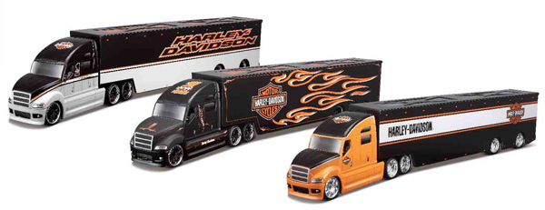 11516-SET - Maisto Diecast Harley Davidson Haulers 3 Piece SET Three