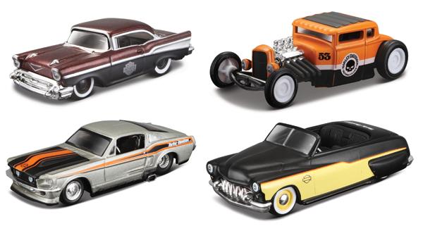http://www.3000toys.com/Maisto-Harley-Davidson-Custom-Car-4-Piece/sku/MAISTO15380-SET-C