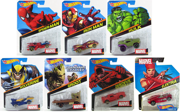 BDM71-998K-CASE - Mattel Hot Wheels Marvel Character Cars 2016 Release