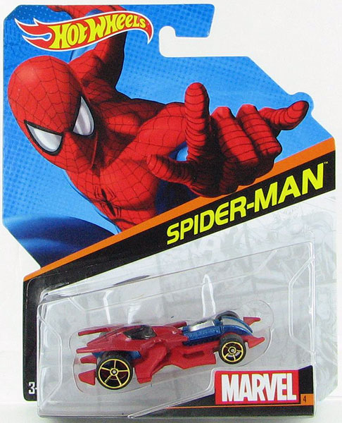 BDM72 - Mattel Spider Man Hot Wheels Marvel Character Car