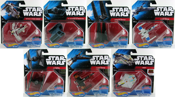CGW52N-CASE - Mattel Hot Wheels Star Wars Starship 12 Piece