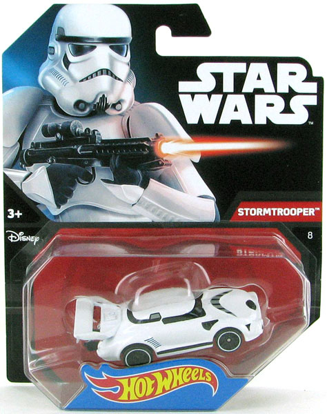 DTB14 - Mattel Stormtrooper Hot Wheels Star Wars Character Car