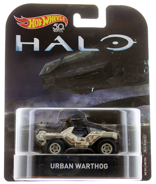 FLD12 - Mattel HALO Urban Warthog Hot Wheels Retro Entertainment