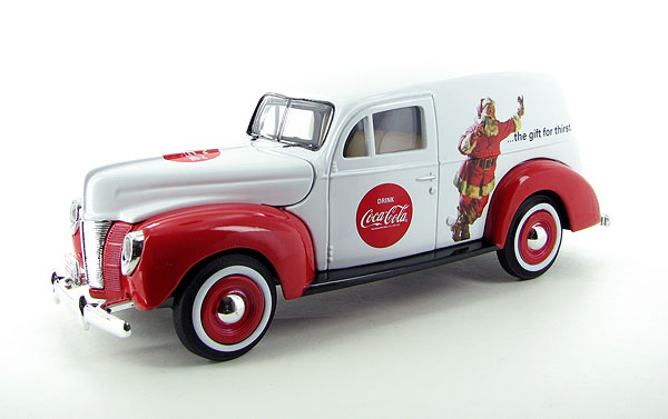 439695 - Motor City Coca Cola 1940 Ford Holiday Panel Van