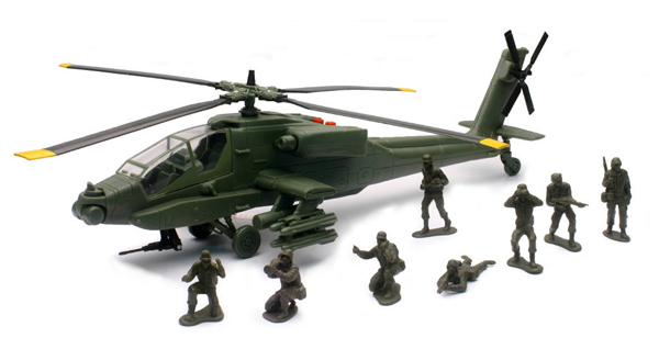 02136 - New-Ray Toys Apache AH 64 Helicopter