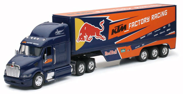10693 - New-Ray Toys Red Bull KTM Racing Peterbilt 387