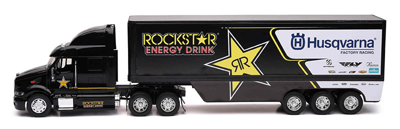 10963 - New-Ray Toys Rockstar Husqvarna Factory Racing Transporter Truck