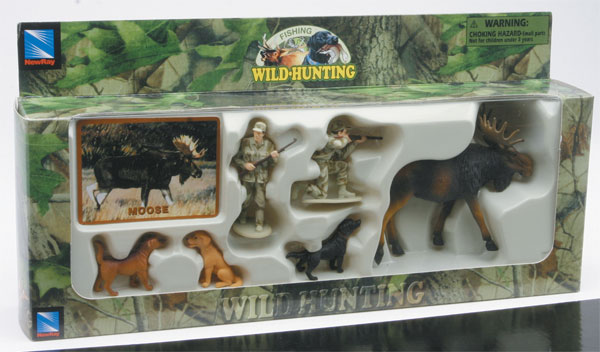 76003-1 - New-Ray Toys Moose Hunters Set Wild Hunting playset Hunters