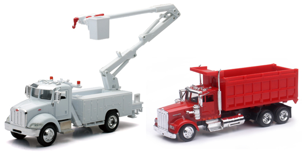 AS-15533A-SET-A - New-Ray Toys Utility Truck 2 Piece Construction SET SET