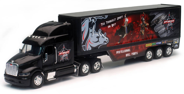 SS-13313 - New-Ray Toys PBR Peterbilt Sleeper Cab and Dry Van