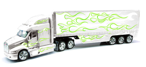 SS-13503A - New-Ray Toys Peterbilt 387 Custom Flame Truck