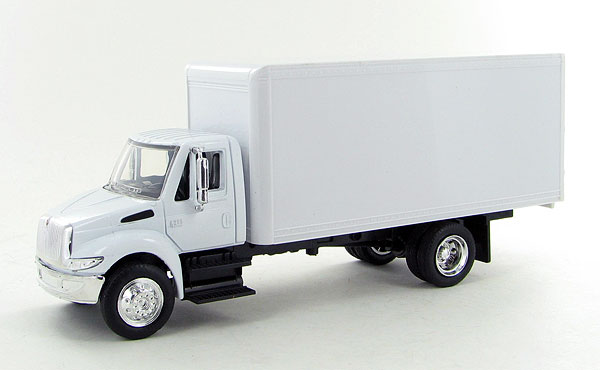 SS-15903 - New-Ray Toys International 4200 White Box Truck cab is