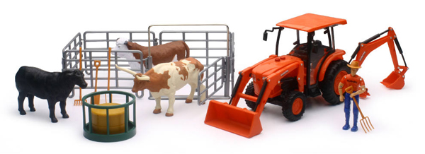 SS-33313 - New-Ray Toys Kubota Farm Tractor