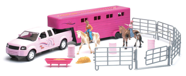 SS-37035C - New-Ray Toys Horse Trailer Playset