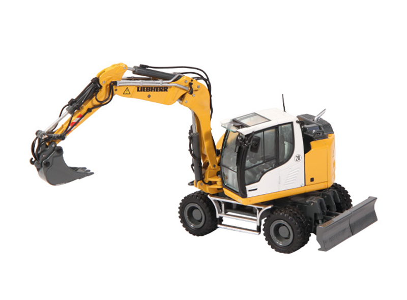 1000 - NZG Model Liebherr A910 Compact Litronic Wheeled Excavator Liebherrs