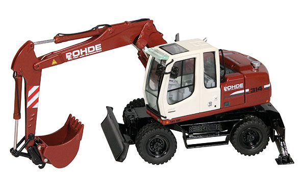 675-07 - NZG Model Rohde Liebherr A314 Litronic Wheeled Excavator Updated