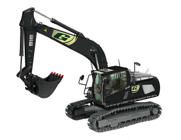 685-19 - NZG Model Gruber Transporte Liebherr R916 Advanced Tracked Excavator