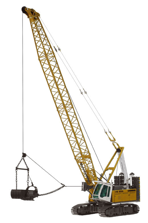 728 - NZG Model Liebherr HS855HD Duty Cycle Crawler Crane