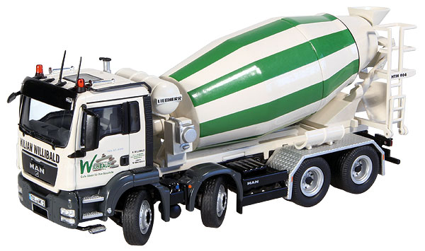 773-10 - NZG Model Kilian Willibald MAN TGS 8x4 Concrete Mixing