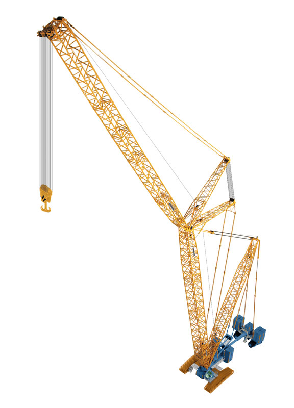 843-06 - NZG Model Sarens Liebherr LR 1600_2 and Derrick Lattice