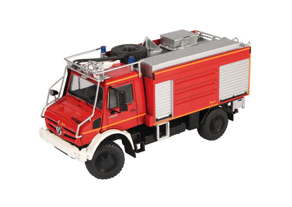 9112 - NZG Model Fire Brigade Mercedes Benz Unimog U 5000