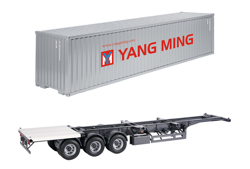 9791-04 - NZG Model Yang Ming Container Trailer
