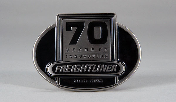 09071 - Spec-cast Freightliner 70th Anniversary Black Enamel Buckle 70
