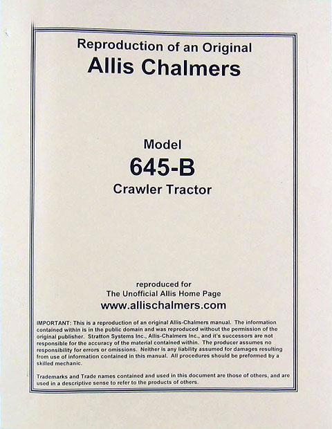 AC645B-S - Strattons Allis Chalmers Model 845 Series B Wheel