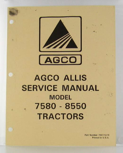 AC7580-S - Strattons Allis Chalmers Model 7580 and 8550 4WD