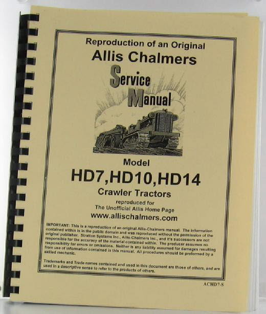 ACHD7-S - Strattons Allis Chalmers Model Hd 7 Hd 10