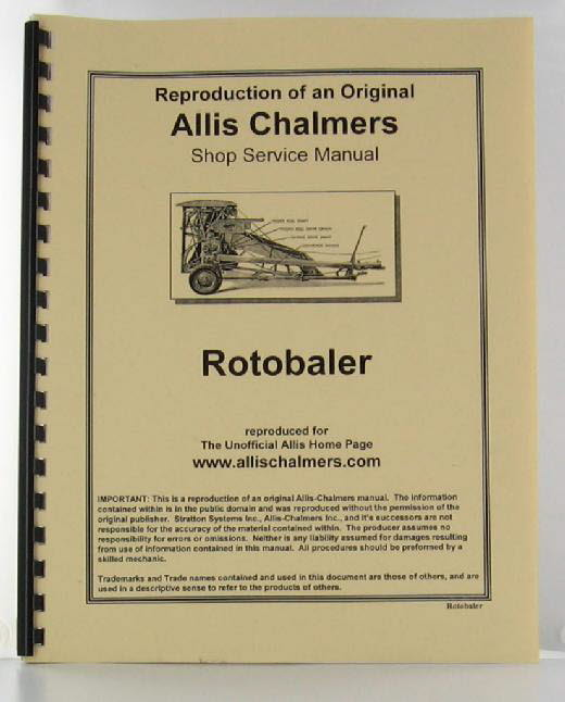 ACROTOB-S - Strattons Allis Chalmers Roto Baler Service Manual Illustrations
