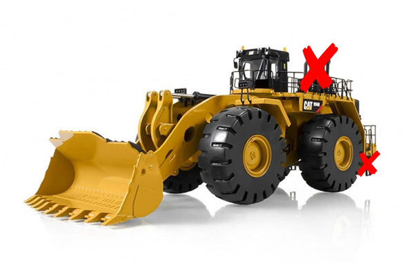 10008-X1 - Tonkin Replicas Caterpillar 994H Wheel Loader SMOKE STACKS AND