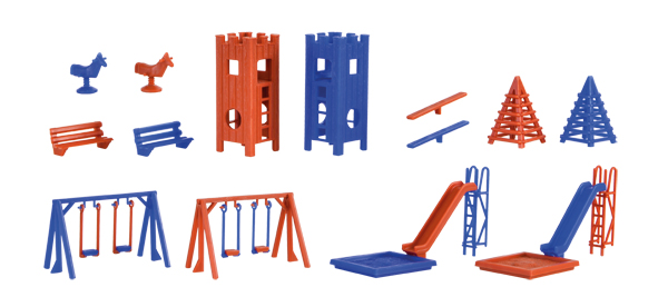43665 - Vollmer Playground Equipment Set Made of
