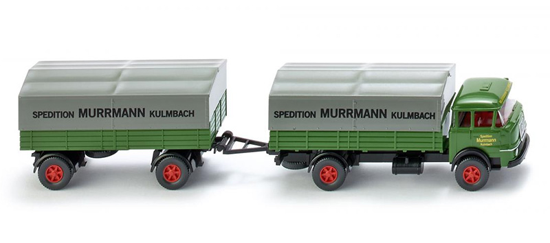 048601 - Wiking Model Spedition Murrmann Kulmbach Krupp 806 Flatbed Truck