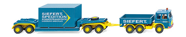 050402 - Wiking Model Siefert MAN 19230 Heavy Truck and Lowloader