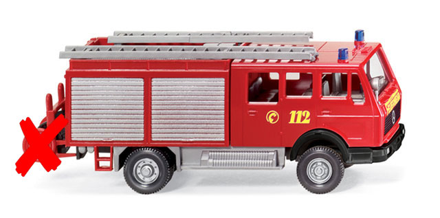 061601-X - Wiking Model Mercedes Benz LF 16 Fire Service Vehicle